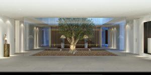 P1 FLAMINGOS. Entrance Hall and Interior Courtiyard